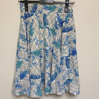 アーバンリサーチ(URBAN RESEARCH)のアーバンリサーチ ボタニカル柄スカート(ひざ丈スカート)