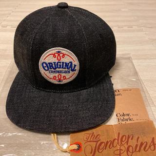 テンダーロイン(TENDERLOIN)の未使用! TENDERLOIN トラッカー キャップ デニム 帽子 ブラック 黒(キャップ)