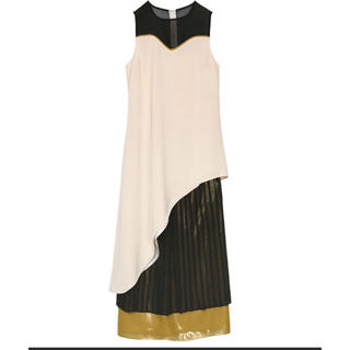 Ameri VINTAGE - SHEER DOCKING PLEATS DRESS
