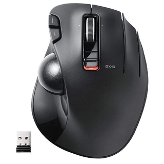ELECOM - ELECOM マウス ワイヤレス(レシーバー付属) トラックボール 6ボタン