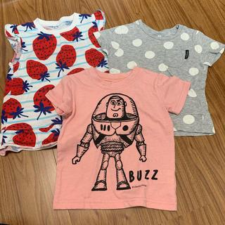 ニシマツヤ(西松屋)のTシャツ 3点セット まとめ売り(Tシャツ/カットソー)