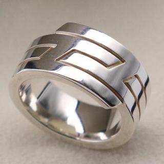 エルメス(Hermes)の美品!エルメス Hロゴ リング 51(リング(指輪))