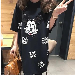 YOSHINORI KOTAKE - BIGシルエットTシャツ スパンコール