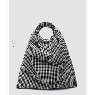 ザラ(ZARA)の本日限定お値下げ‼︎ZARA ギンガムチェック バッグ 新品 完売(ハンドバッグ)