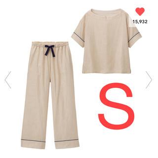 GU - GU オーガニックコットンプルオーバーパジャマ 半袖 大型店限定