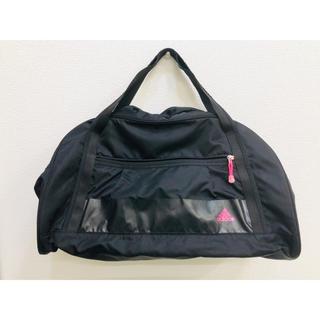 adidas - adidas スポーツバッグ 大容量 ボストンバッグ  ブラック×ピンク