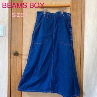 ビームスボーイ(BEAMS BOY)のBEAMS BOY デニムロングスカート  1 ピンクステッチ(ロングスカート)