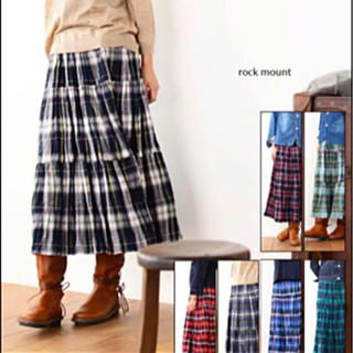 ロックマウント(ROCKMOUNT)のRock Maunt  チェックロングスカート(ロングスカート)