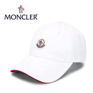 モンクレール(MONCLER)の8 MONCLER 20ss ホワイト ロゴワッペン 帽子 ベースボールキャップ(キャップ)
