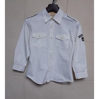 BURBERRY - バーバリー 白 長袖シャツ120A