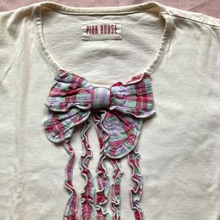PINK HOUSE - ピンクハウス  チェックリボンのTシャツ 1980年代