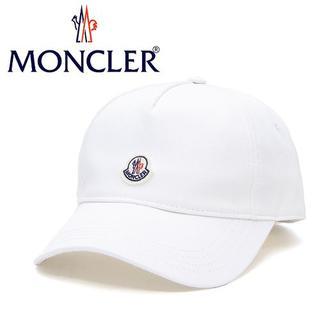 モンクレール(MONCLER)の12 MONCLER ホワイト ロゴワッペン 帽子 ベースボールキャップ(キャップ)