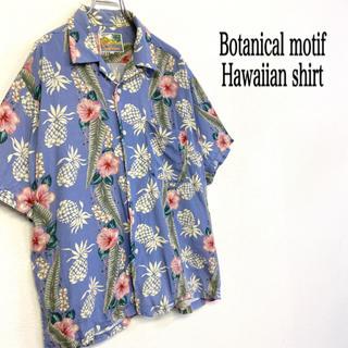 USED 古着 ハワイアン ボタニカルモチーフ アロハシャツ