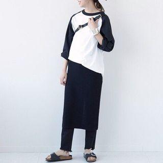 ドゥーズィエムクラス(DEUXIEME CLASSE)の新品未使用 Champion ラグラン BIG Tシャツ 刺繍ロゴ(Tシャツ(長袖/七分))