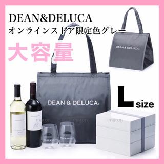 ディーンアンドデルーカ(DEAN & DELUCA)の限定品 グレーLサイズDEAN&DELUCA保冷バッグトートバッグクーラーバッグ(エコバッグ)