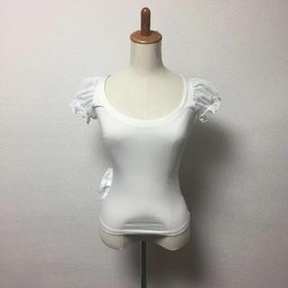アリスアウアア(alice auaa)のalice auaa アリスアウアア チュールパフ袖カットソー(カットソー(半袖/袖なし))