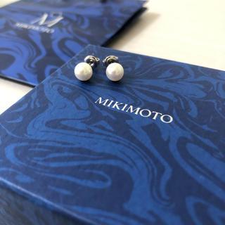 ミキモト(MIKIMOTO)のMIKIMOTO ミキモトパールピアス あこや真珠 7mm K18(ピアス)
