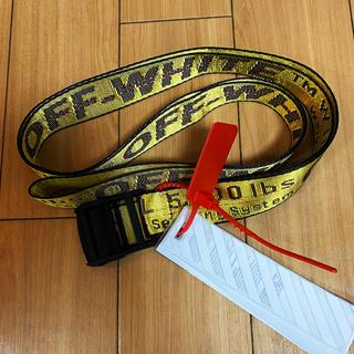 オフホワイト(OFF-WHITE)の大人気OFF-WHITE イエロー ベルト 約200CM(ベルト)