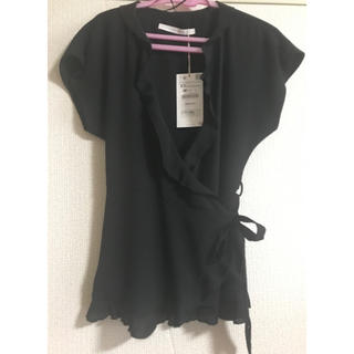 ザラ(ZARA)のZARA 新品未使用タグ付き ブラウス(シャツ/ブラウス(半袖/袖なし))