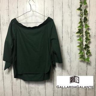 ガリャルダガランテ(GALLARDA GALANTE)のgallarda  galante ガリャルダガランテ ブラウス オフィス 緑(シャツ/ブラウス(半袖/袖なし))