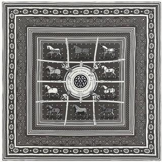 エルメス(Hermes)の最終価格 エルメス カシミヤシルク バンダナ トープ 新品(ストール/パシュミナ)