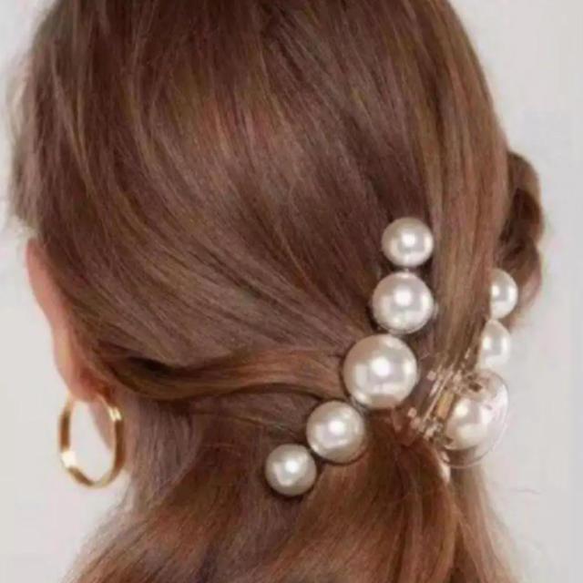 eimy istoire(エイミーイストワール)のパールヘアクリップ ビッグサイズ 大人気💛 新品 レディースのヘアアクセサリー(バレッタ/ヘアクリップ)の商品写真