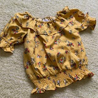 しまむら - 未着用 mamaraku ブラウス 半袖 花柄 フリル サイズ90
