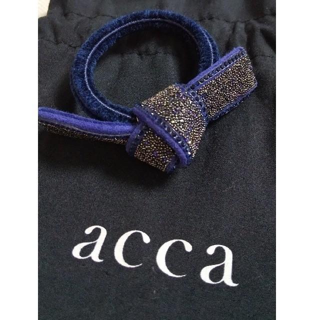 acca(アッカ)のドレスポニー バイオレット acca アッカー ゴム レディースのヘアアクセサリー(ヘアゴム/シュシュ)の商品写真