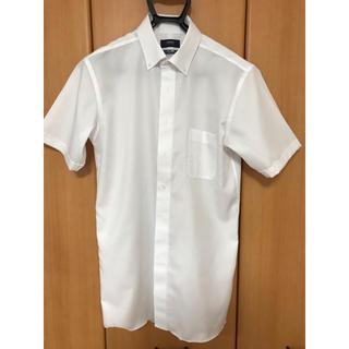 パーソンズ(PERSON'S)の洋服の青山にて購入 1度着用 クールビズ 半袖ボタンダウンシャツ L(シャツ)