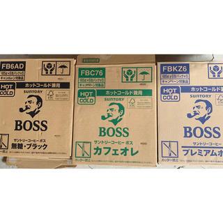 BOSS - 新品缶コーヒーボスBOSSブラック無糖カフェオレプレミアムボス90缶まとめ売