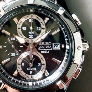 SEIKO - 【新品】セイコー上級コーチュラ★SEIKO クロノグラフ 逆輸入腕時計 メンズ