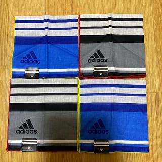 アディダス(adidas)のアディダスハンカチ 4枚セット(その他)