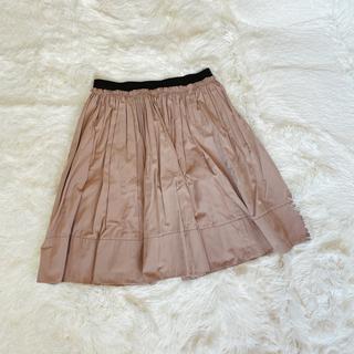 イーハイフンワールドギャラリー(E hyphen world gallery)のベージュ膝丈スカート(ひざ丈スカート)