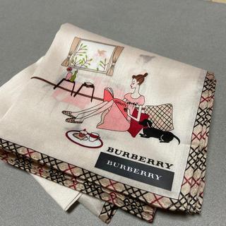 バーバリー(BURBERRY)のバーバリーハンカチ新品未使用シール付き(ハンカチ)