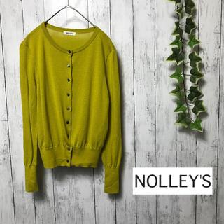 ノーリーズ(NOLLEY'S)のnolleys ノーリーズ カーディガン クルーネック オフィスカジュアル 黄(カーディガン)