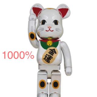 MEDICOM TOY - BE@RBRICK 招き猫 銀メッキ 弐 1000% ベアブリック mct