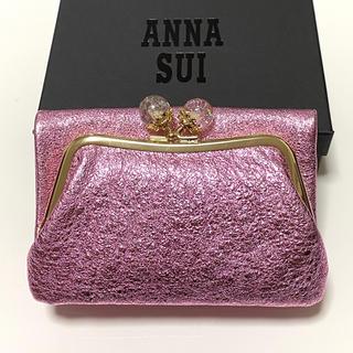 ANNA SUI - ANNA SUI アナ スイ ドリーマー 外口金二つ折り財布 ピーチ 新品
