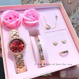 Tiffany & Co. - Tiffany&Co 腕時計 ネックレス ピアス 指輪 5点セット