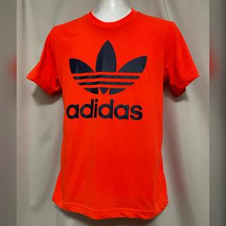 adidas - adidas アディダス ロゴTシャツ 蛍光オレンジ XS カットソー