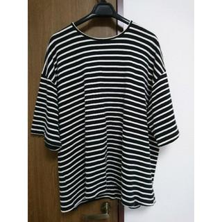 フィアオブゴッド(FEAR OF GOD)のfear ofgod 4th stripeT ブラック M(Tシャツ/カットソー(半袖/袖なし))