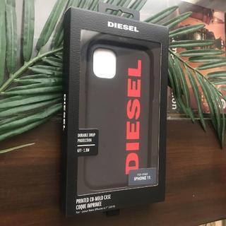 ディーゼル(DIESEL)の新作★ディーゼル iPhone11 ケース ロゴ レッド DIESEL 希少(iPhoneケース)