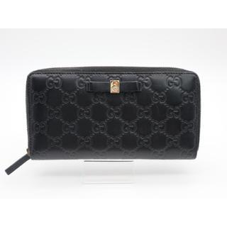 グッチ(Gucci)のGUCCI 《グッチシマ ラウンドファスナー 》ABランク ブラック 美品(財布)