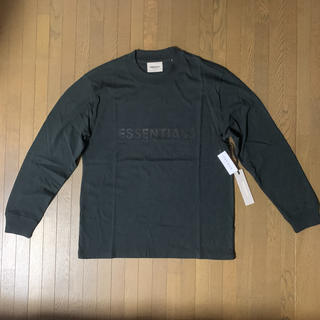 フィアオブゴッド(FEAR OF GOD)のフィアオブゴッド エッセンシャルズ  ロンT  黒 S (Tシャツ/カットソー(七分/長袖))