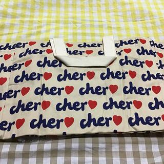 シェル(Cher)のシェル エコバッグ ベージュ中サイズ(エコバッグ)