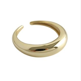 HYKE - シルバー925 プレインボリュームリング 9168 ゴールド