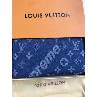 LOUIS VUITTON - 青 男女兼用 Supreme X Louis Vuitton 長財布