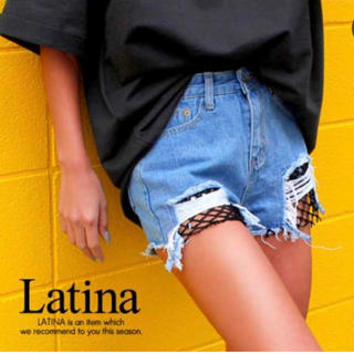 アナップラティーナ(ANAP Latina)の1794/ANAP メッシデニム ショートパンツ(ショートパンツ)