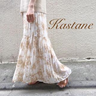 Kastane - 新品タグなし♡¥6490【Kastane】タイダイワッシャースカート