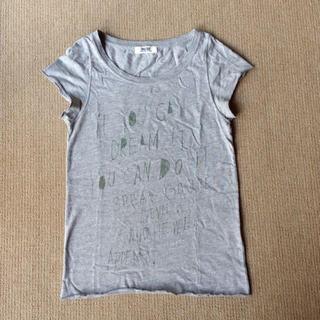 ダブルネーム(DOUBLE NAME)のグレーのTシャツ(Tシャツ(半袖/袖なし))