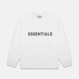 フィアオブゴッド(FEAR OF GOD)のFOG ESSENTIALS White Long Sleeve Tシャツ S(Tシャツ/カットソー(七分/長袖))